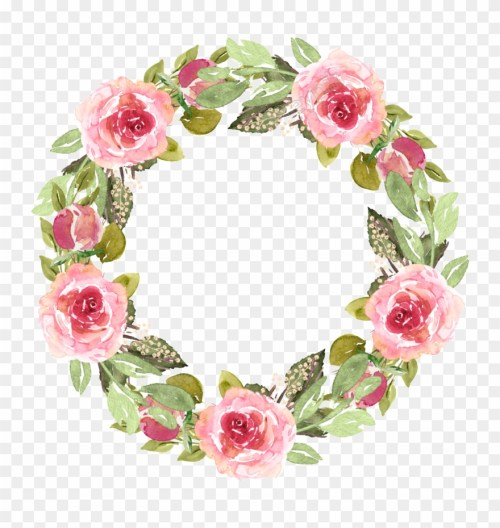 small resolution of clip art royalty free library watercolor free texture pink floral frame png transparent png