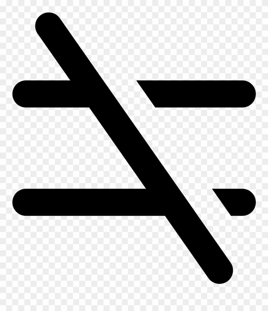 hight resolution of not equal icon equals sign clipart