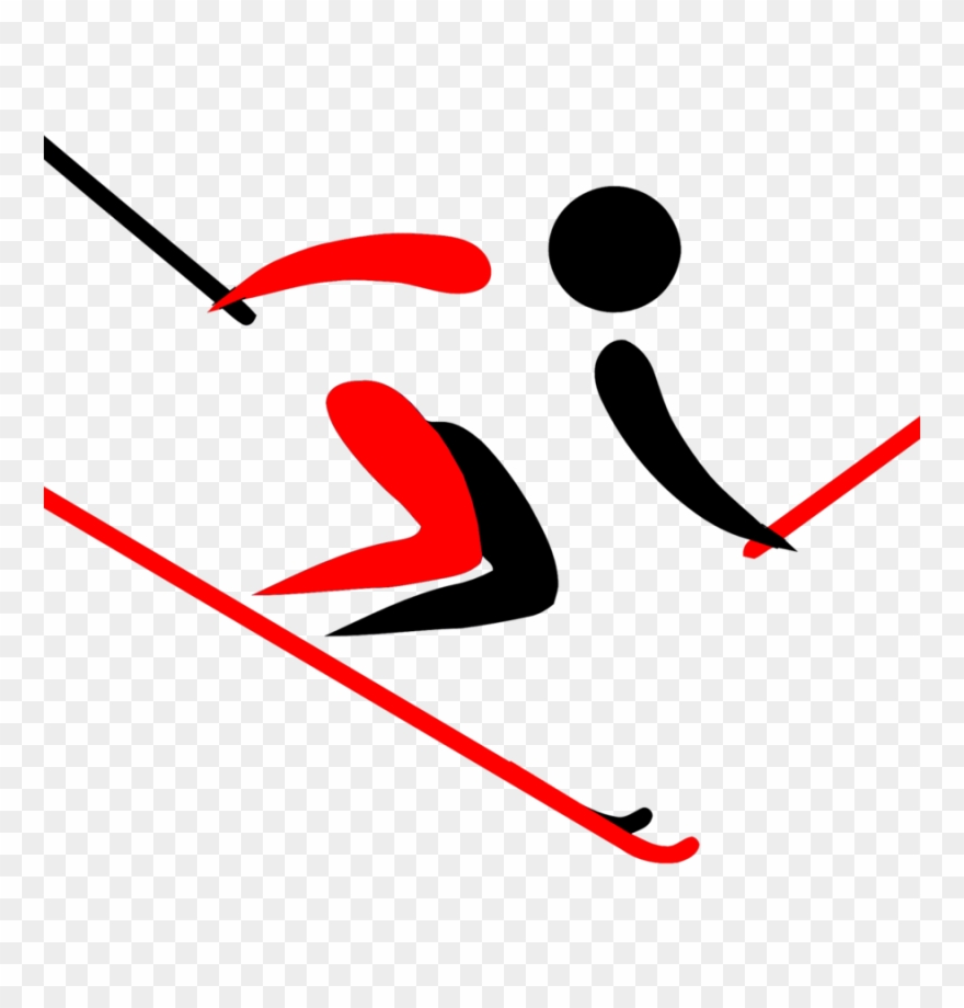 hight resolution of alpine skiing clipart pyeongchang 2018 olympic winter skier clipart png download