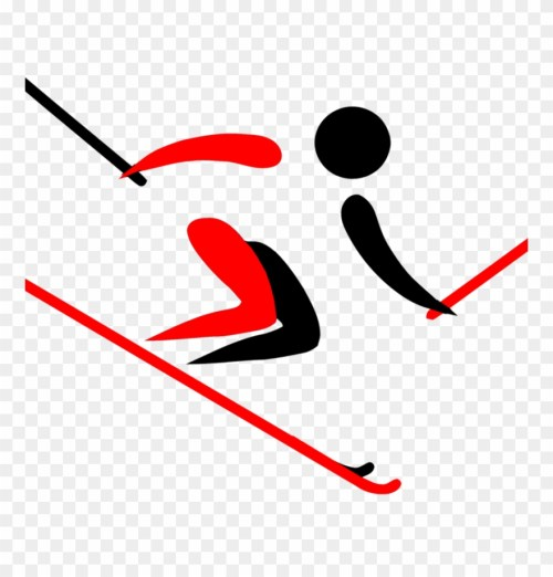 small resolution of alpine skiing clipart pyeongchang 2018 olympic winter skier clipart png download