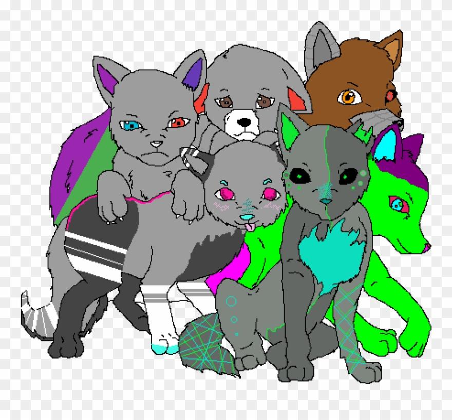 cool wolves cartoon clipart