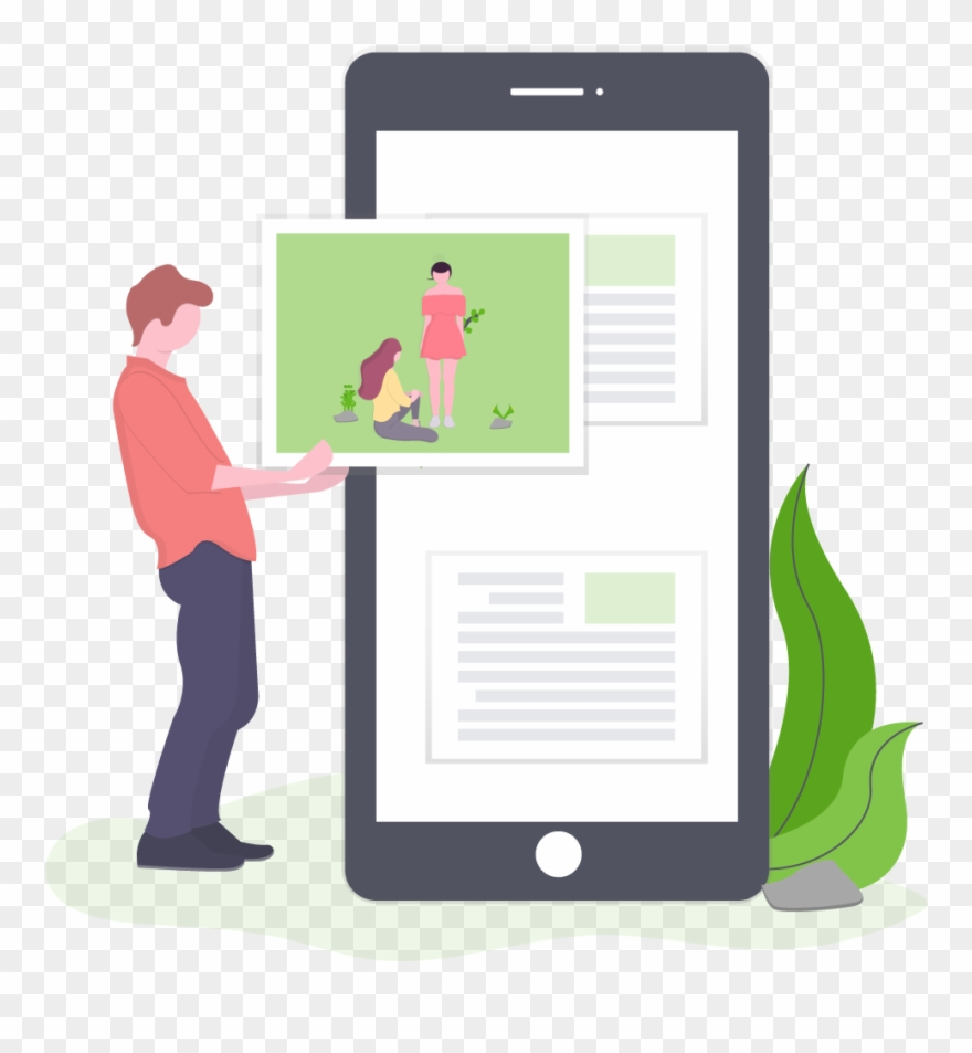hight resolution of content discovery mobile phone clipart