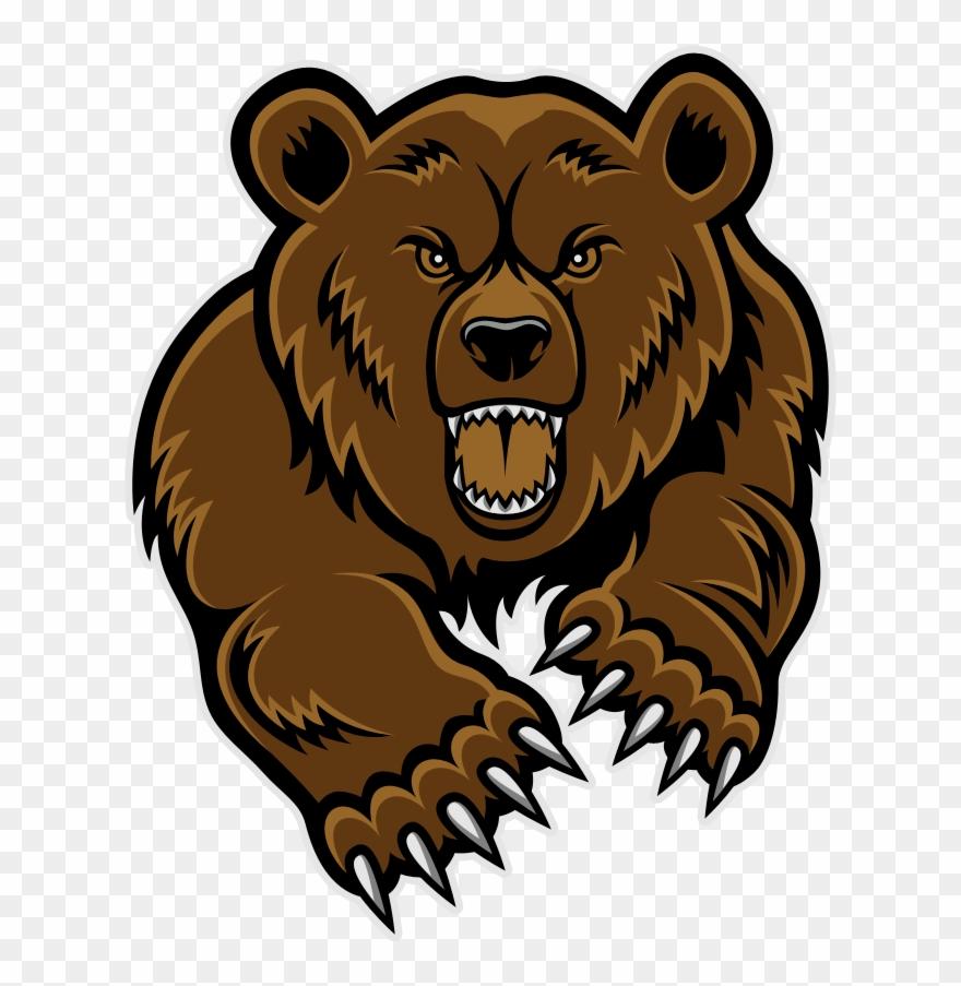 grizzly bear head clip