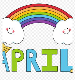 april clipart free month clip art month of april rainbow months of the year april [ 880 x 913 Pixel ]