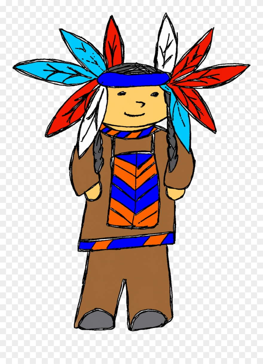 hight resolution of indian chief clip art png download