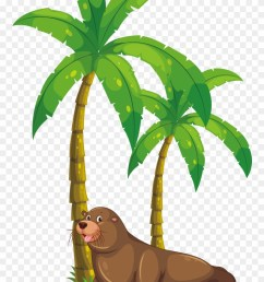 palm tree clipart kerala coconut tree monkey eating banana clipart png download [ 880 x 1339 Pixel ]
