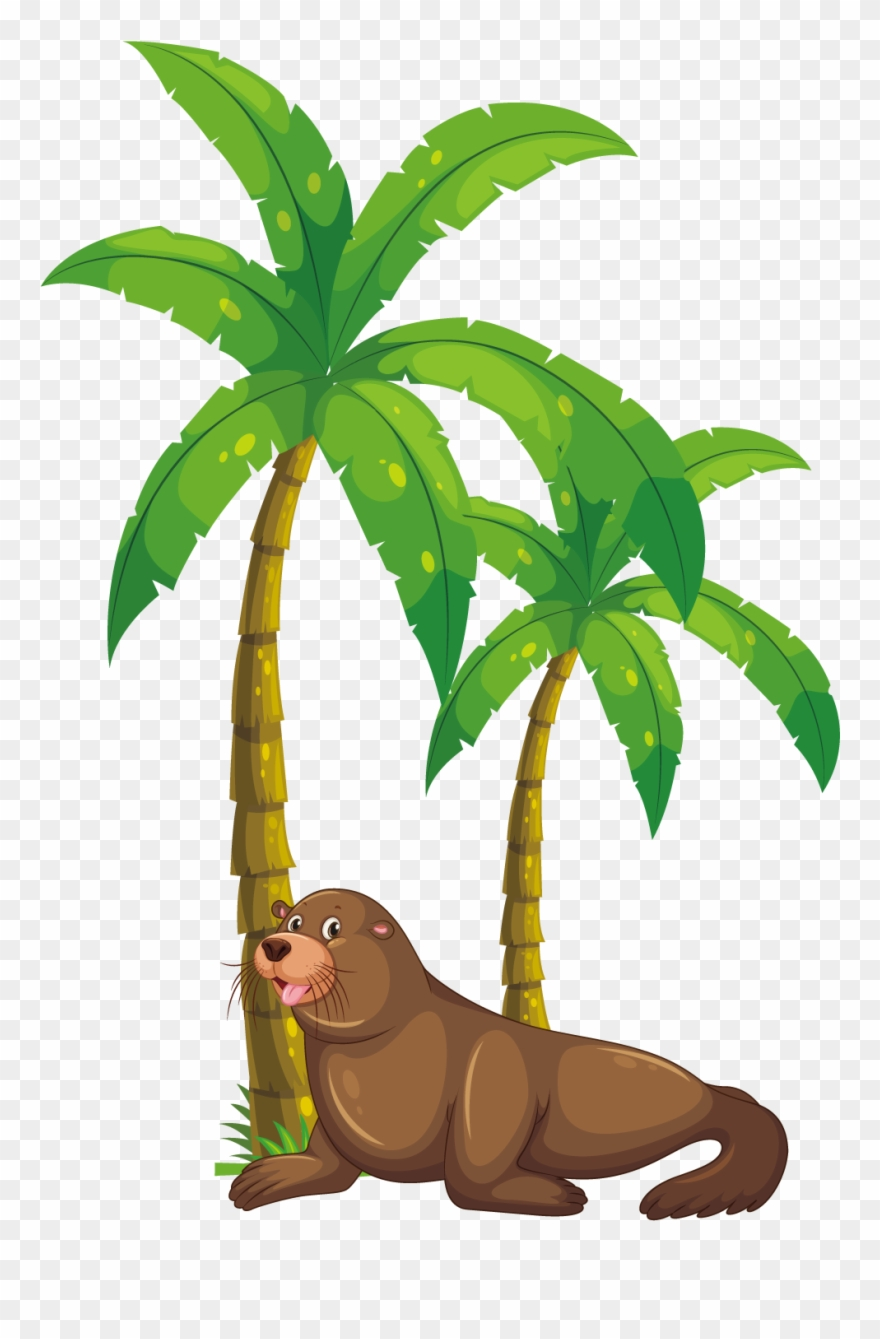 hight resolution of palm tree clipart kerala coconut tree monkey eating banana clipart png download