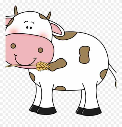small resolution of free cow clipart free cow clip art cow with wheat in transparent background cow clip