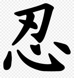 ninja symbol write ninja in japanese clipart [ 880 x 941 Pixel ]