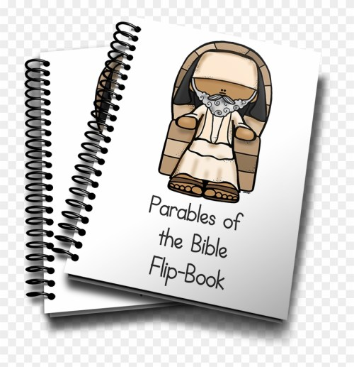 small resolution of parables of the bible mini flip books clip art free png download