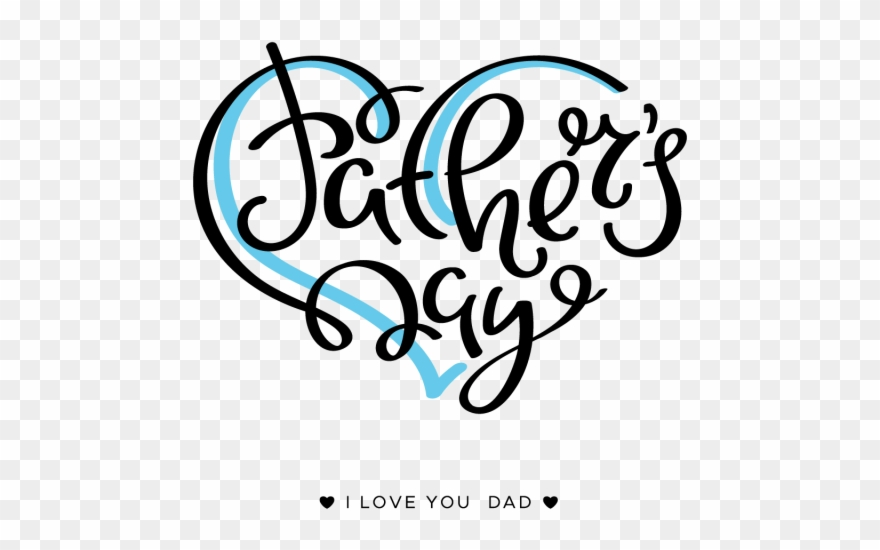 Clip Art Happy Father's Day Lettering On A White