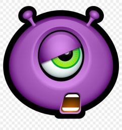 pink eyes clipart halloween monster emojis de halloween png transparent png [ 880 x 898 Pixel ]