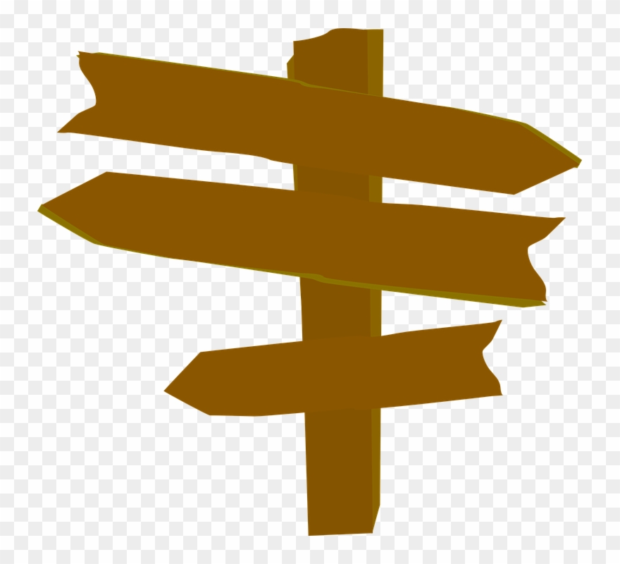 sign clipart arrow wood