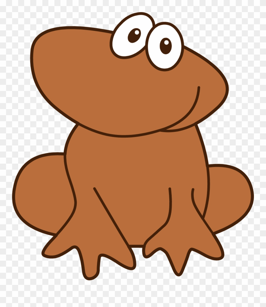 hight resolution of cute little brown frog frog and tadpole clipart png download
