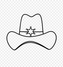 sheriff cowboy hat decal cowboy hat clipart [ 880 x 920 Pixel ]