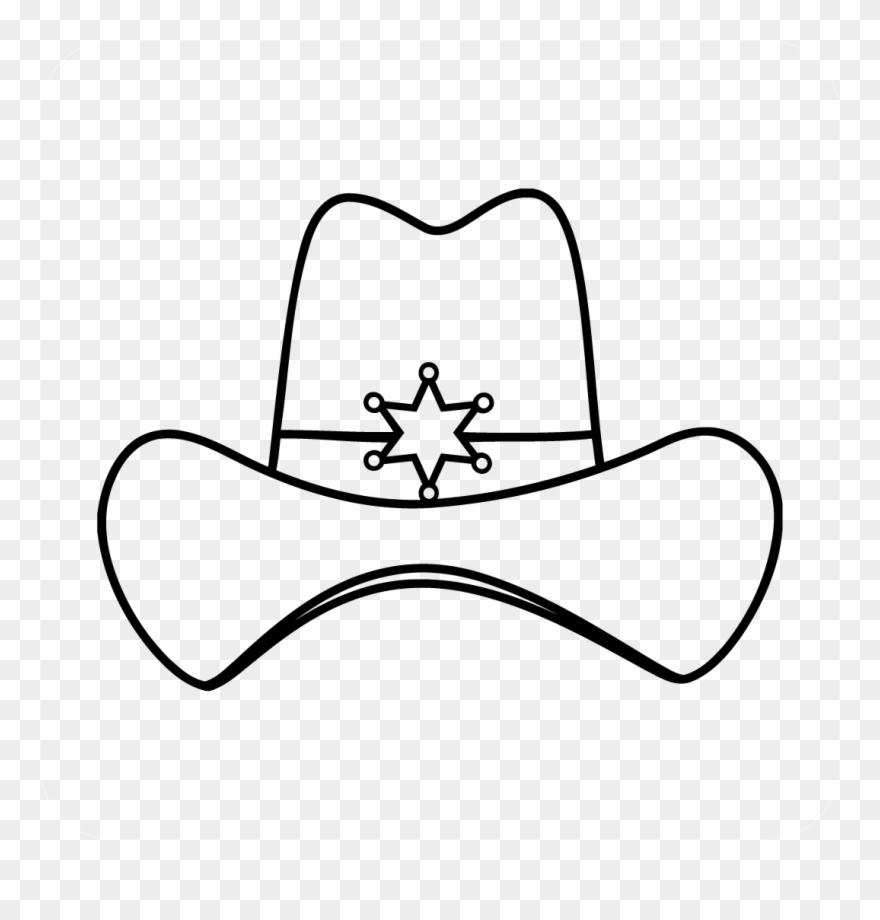 medium resolution of sheriff cowboy hat decal cowboy hat clipart