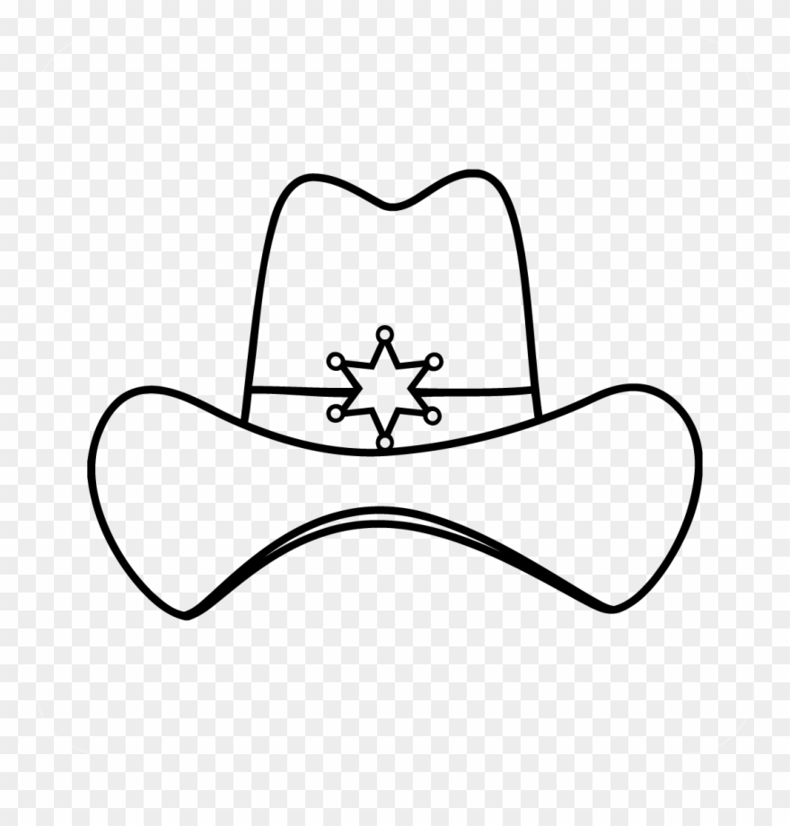 hight resolution of sheriff cowboy hat decal cowboy hat clipart