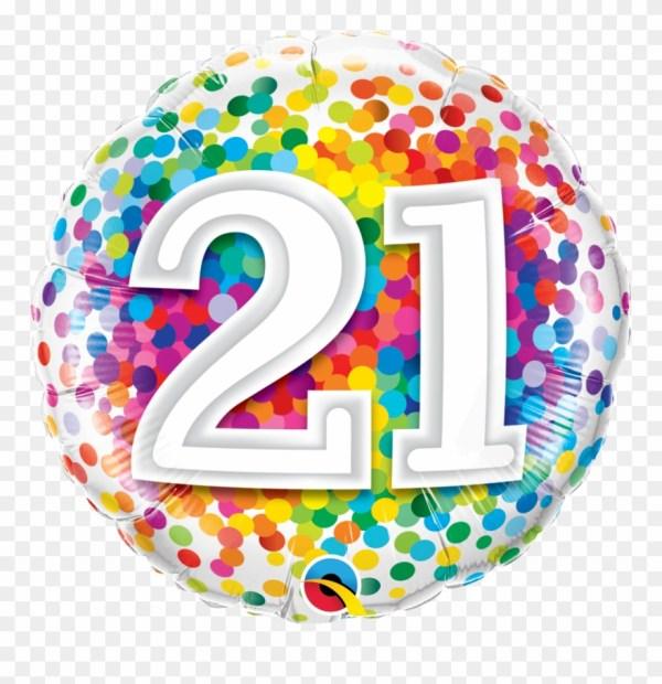 21st birthday balloon in box