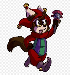 the ferret jester ferret clipart [ 880 x 944 Pixel ]