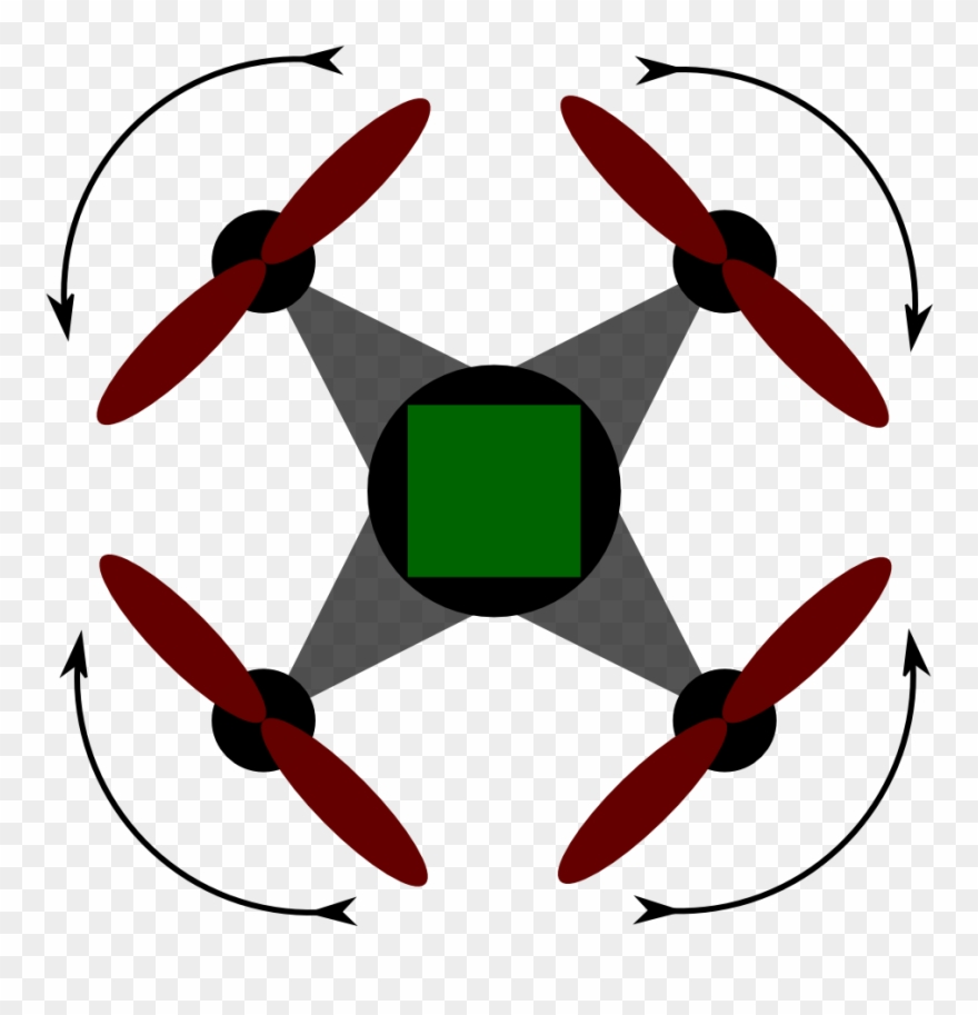 hight resolution of quadcopter stabilization scheme png drone top view clipart