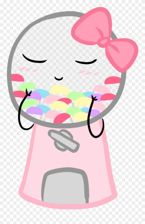 small resolution of cutie gumball machine pastel candy pink candy green kawaii machine clipart