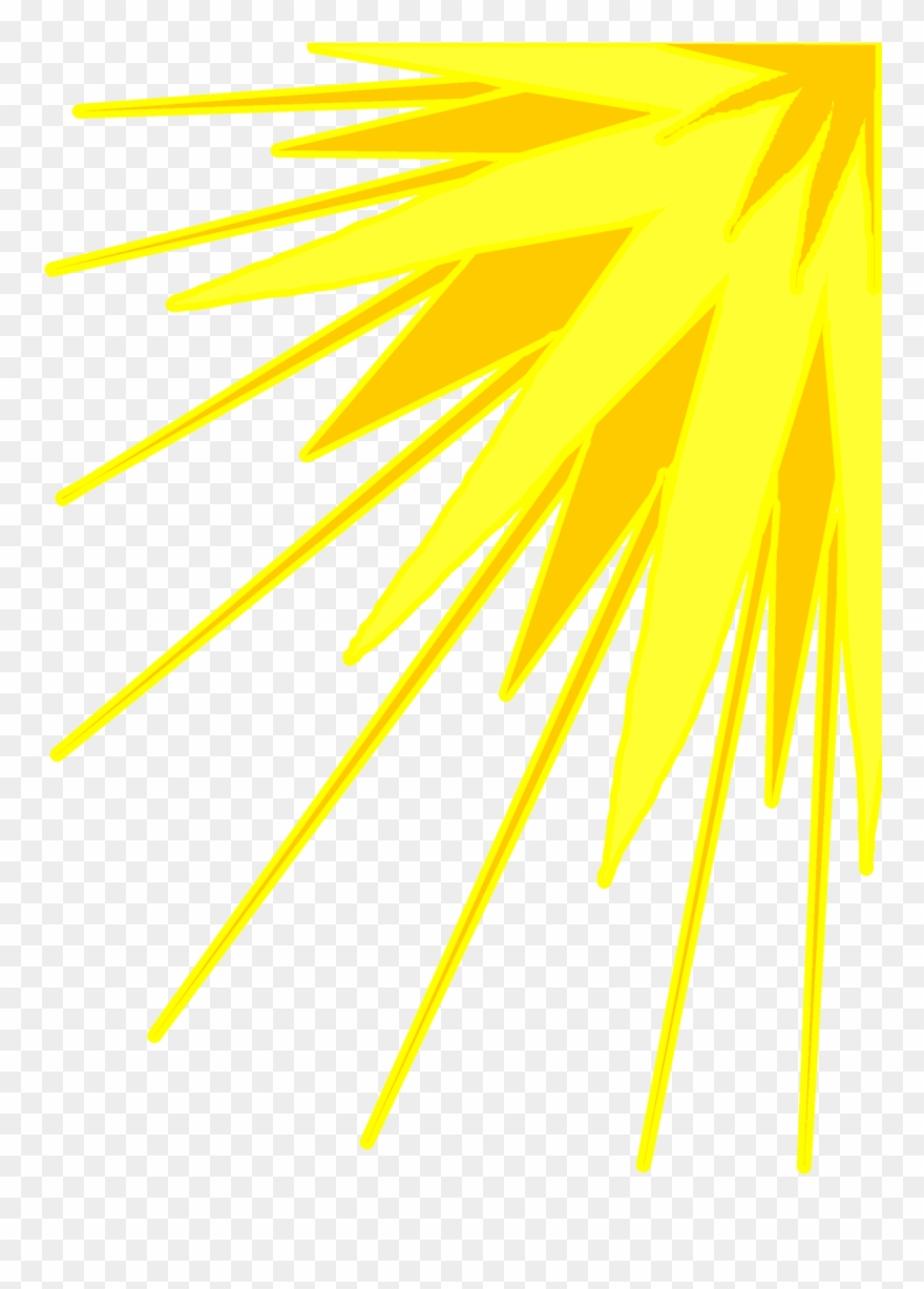 hight resolution of yellow sun rays png clipart