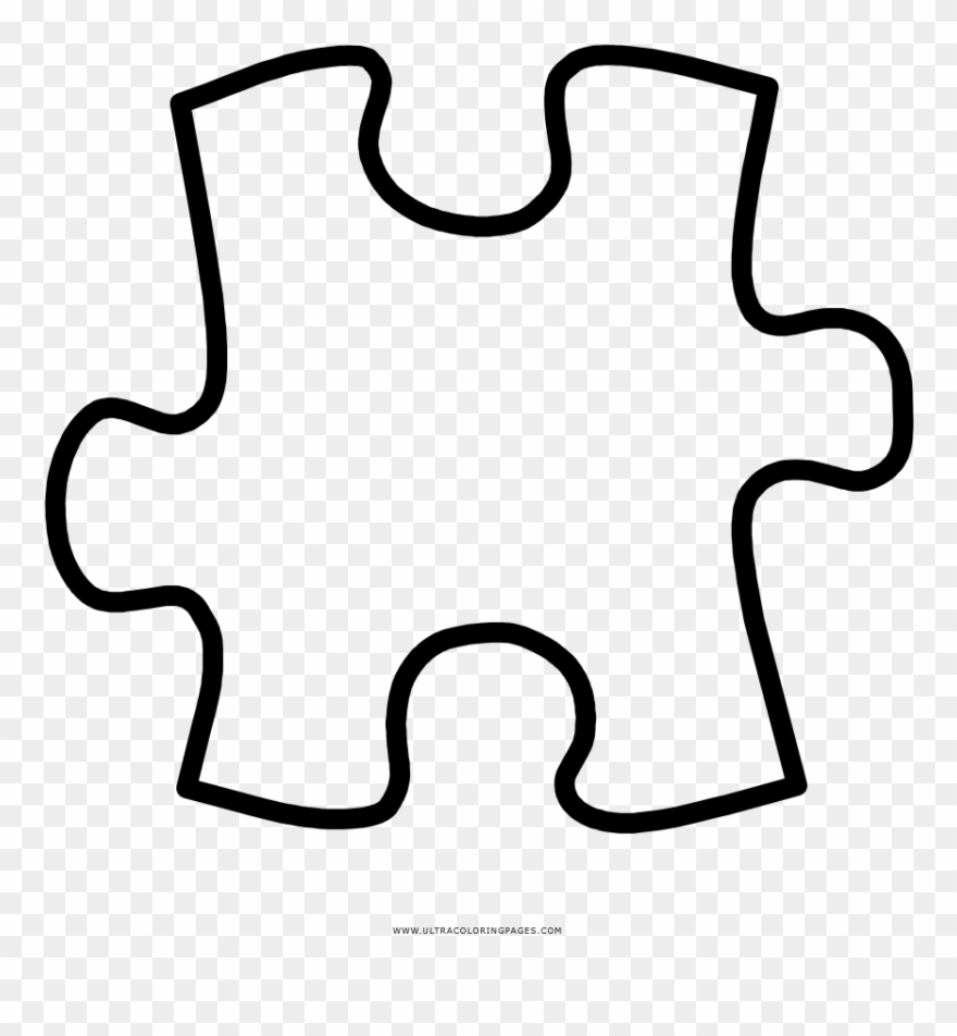 hight resolution of puzzle piece coloring page clipart