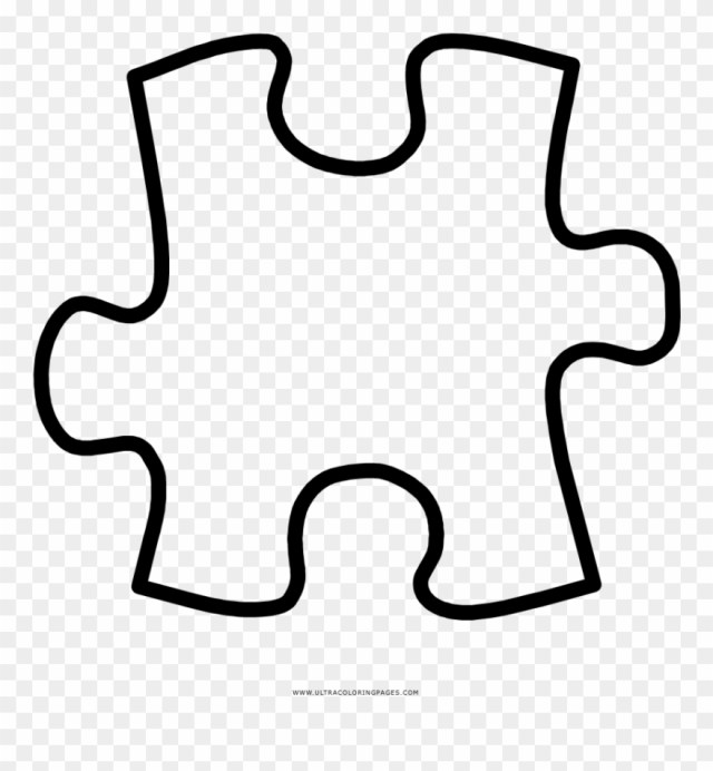 Puzzle Piece Coloring Page Clipart (#22) - PinClipart