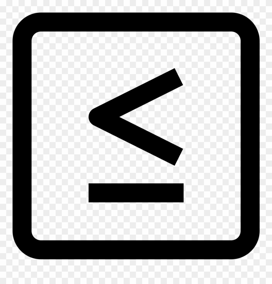 hight resolution of less or equal icon clipart
