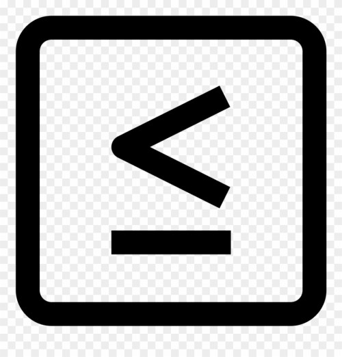 small resolution of less or equal icon clipart