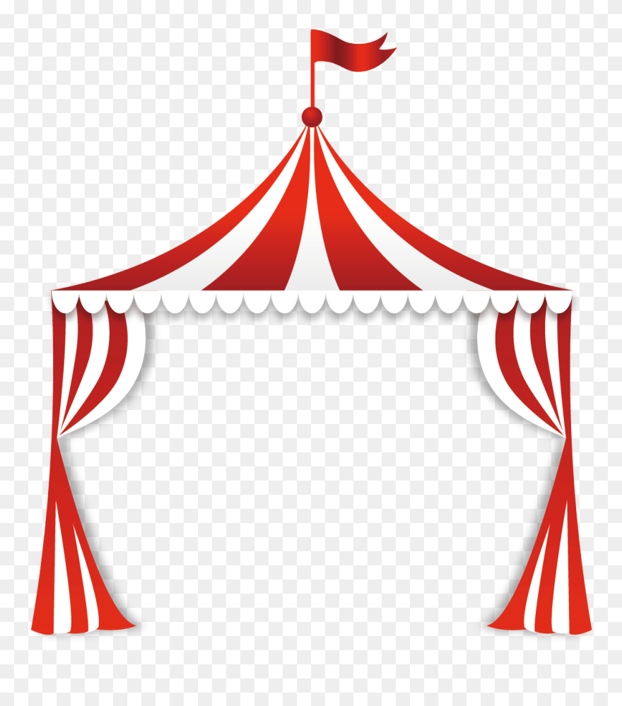 hight resolution of circus tent clip art circus tent top clipart png download