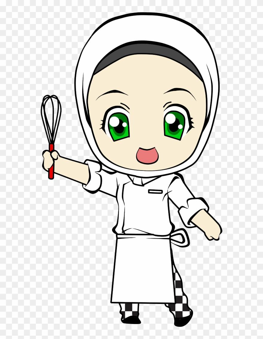 cartoon girl chef chef