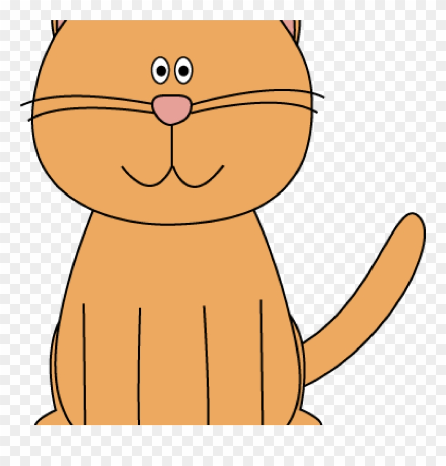 hight resolution of orange cat clipart orange cat sitting clipart school png download