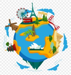 travel around the world png clipart [ 880 x 970 Pixel ]