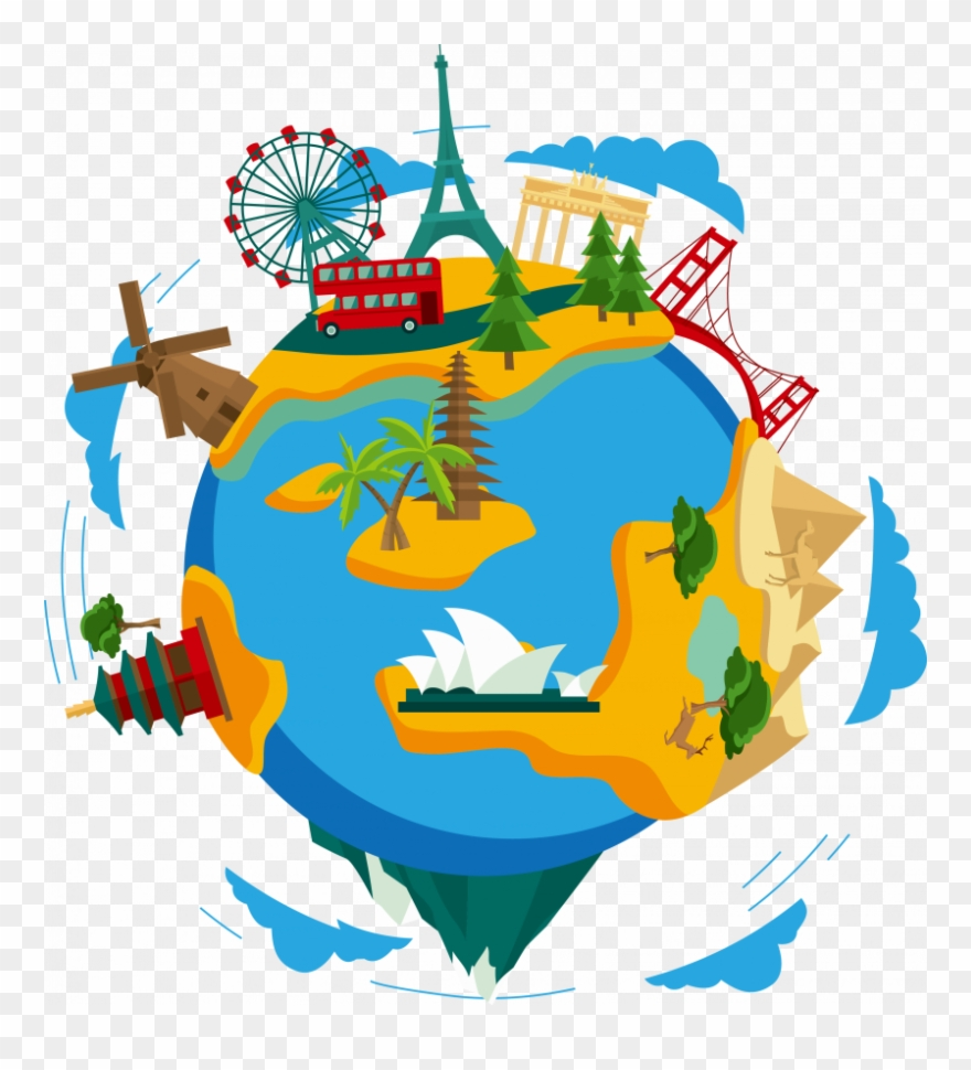 hight resolution of travel around the world png clipart