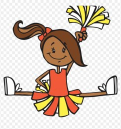 cartoon illustration cheerleaders transprent png free clipart [ 880 x 905 Pixel ]
