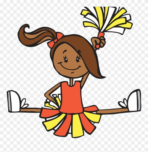 small resolution of cartoon illustration cheerleaders transprent png free clipart