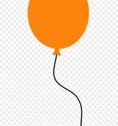 balloon floating orange party png image clipart [ 880 x 1361 Pixel ]