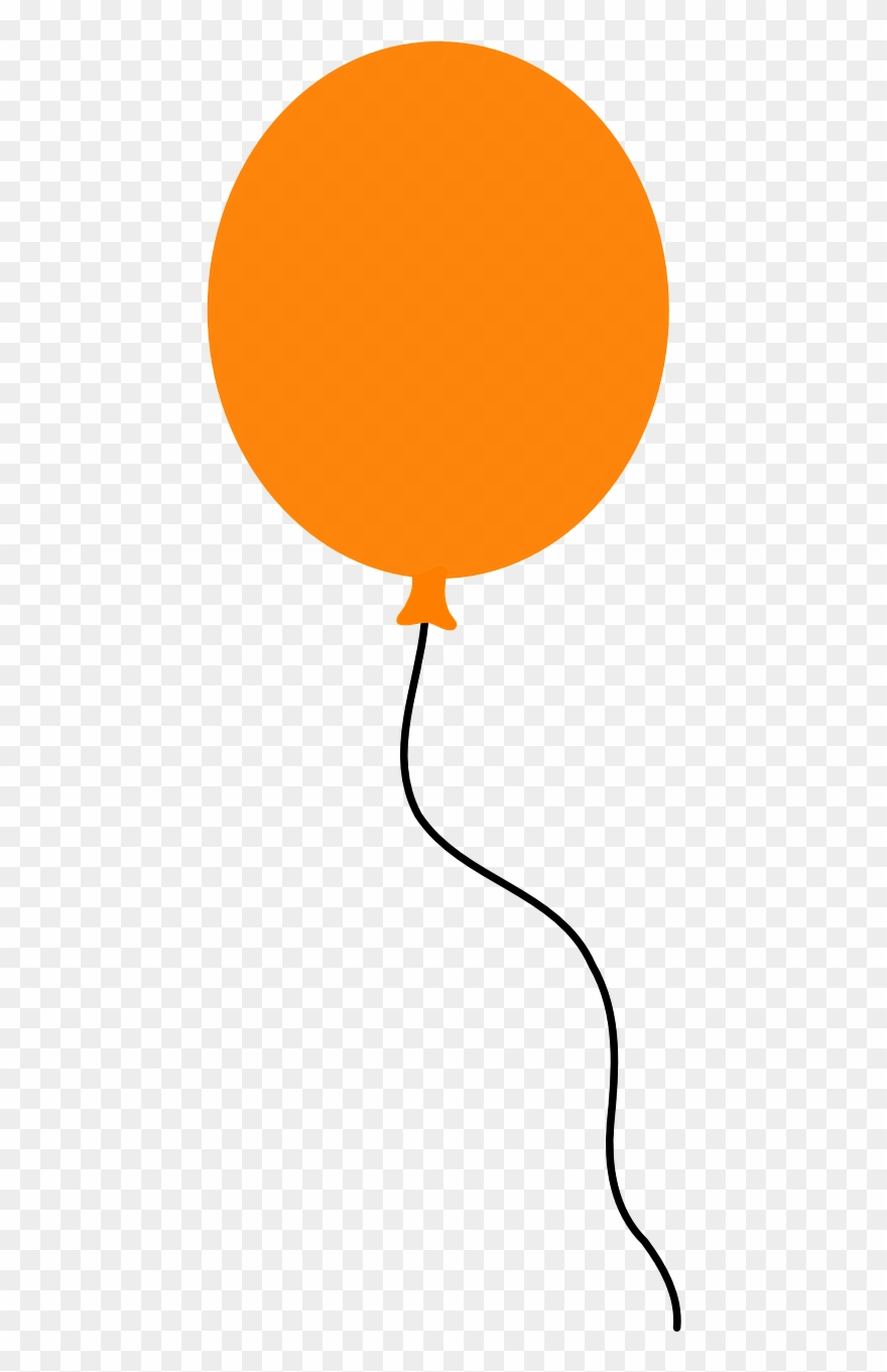 hight resolution of balloon floating orange party png image clipart