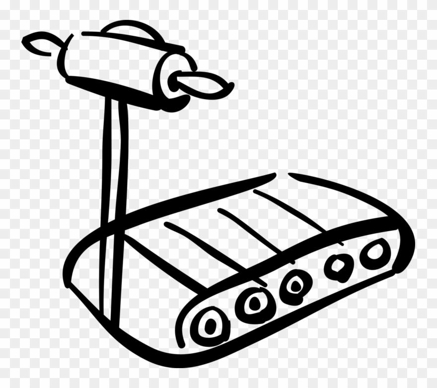 Vector Illustration Of Runner's Treadmill For Fitness