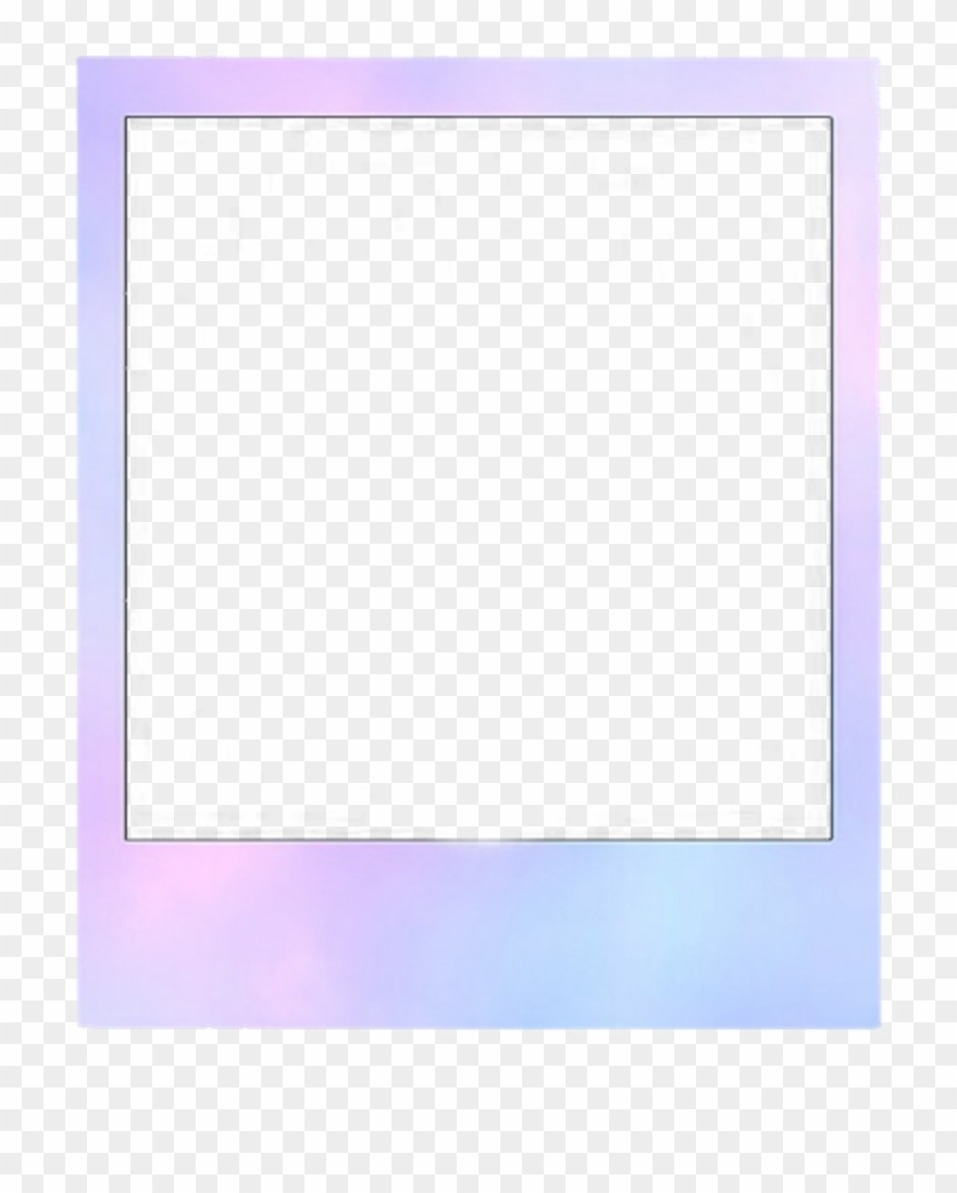 pastel polaroid frame aesthetic