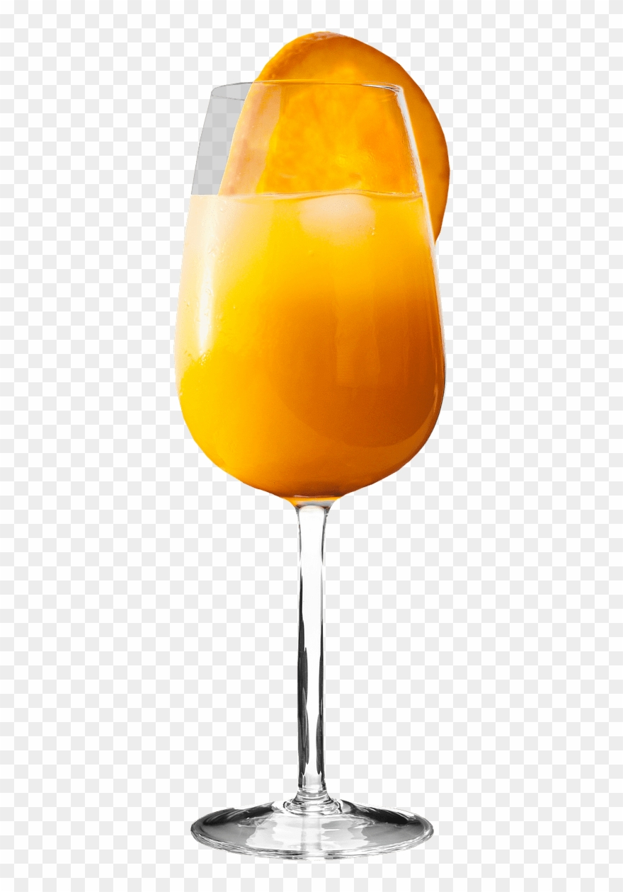 hight resolution of orange juice with fruit slice clipart
