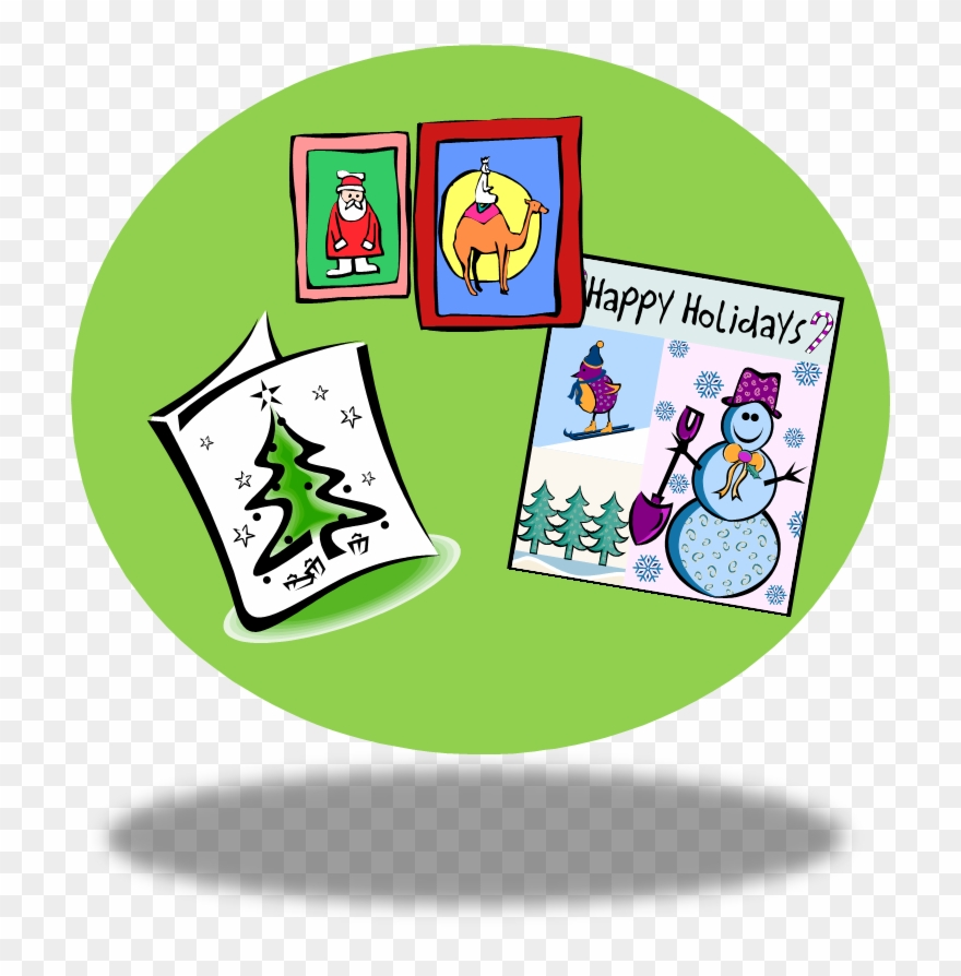 hight resolution of clip art christmas cards happy holidays card clipart png download