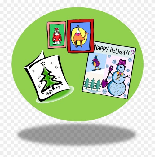 small resolution of clip art christmas cards happy holidays card clipart png download
