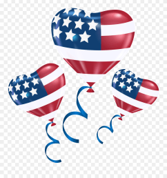 clip royalty free library 4th of july clipart png american flag balloons transparent [ 880 x 943 Pixel ]