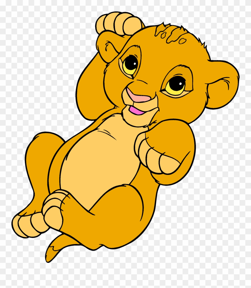 hight resolution of simba nala lion clip art baby simba coloring page png download