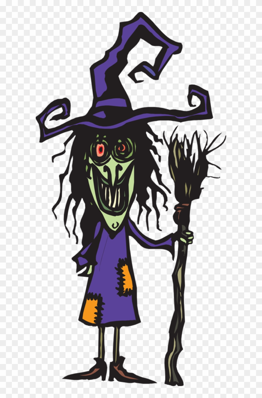 hight resolution of ugly witch with her broom ugly witch clipart png download