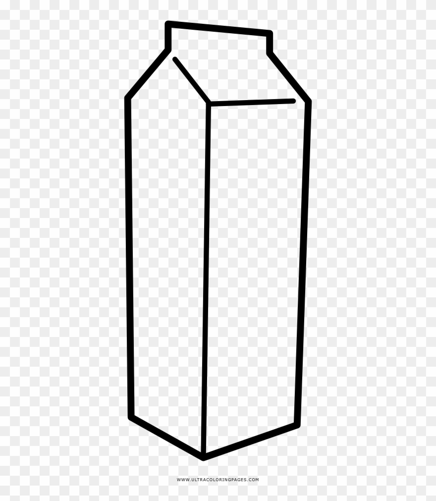 hight resolution of milk carton coloring page clipart