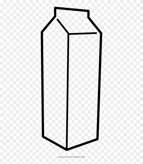 small resolution of milk carton coloring page clipart