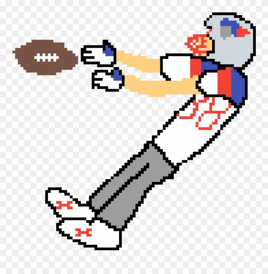 hight resolution of football catch clipart